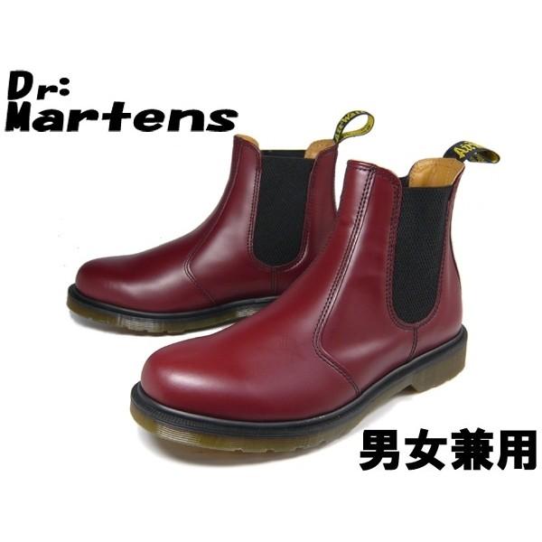 訳あり品 ドクターマーチン チェルシー ブーツ サイドゴア 24.0cm UK5.0 チェリーレッド R11853600 男性用兼女性用 DR.MARTENS CHELSEA BOOT (dm281)