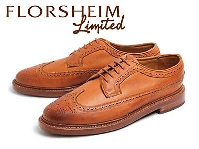 訳あり品 フローシャイム リミテッド ヴェブレン ウィングチップ 短靴 メンズ 12071-226 男性用 ブランディー 30.0cm US12.0 FLORSHEIM LIMITED VEBLEN (fs004)