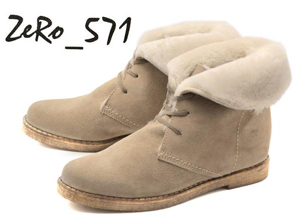 訳あり品 ゼロ 571 レースアップ ショート ブーツ 女性用 ベロアサッビア 23.0cm US6.0 ZERO 571 BOOTS (zr004)
