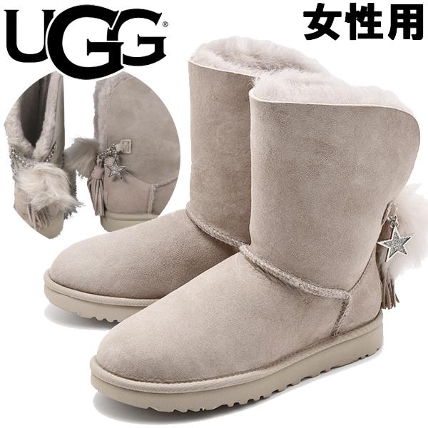 訳あり品 アグ クラシック チャーム ブーツ 24.0cm US7.0 ウィロー 1095717 女性用 UGG CLASSIC CHARM BOOT (ug949)