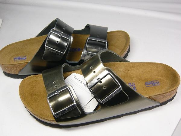 訳あり品 ビルケンシュトック アリゾナ ソフトフットベッド 24.5cm 38 アンスラサイト 1000295 女性用 BIRKENSTOCK ARIZONA SOFT FOOTBED (b1667)