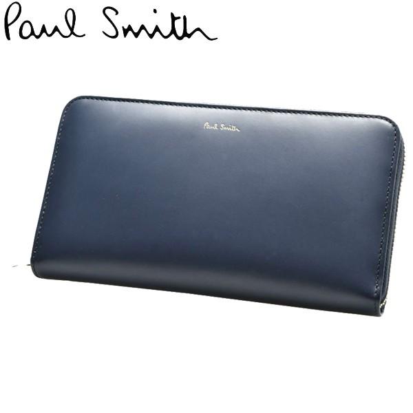 ポールスミス 財布 男性用兼女性用 PAUL SMITH WALLET LG ZIP INTMUL 4778 AMULTI メンズ レディース 財布 ネイビー (01-60340045)