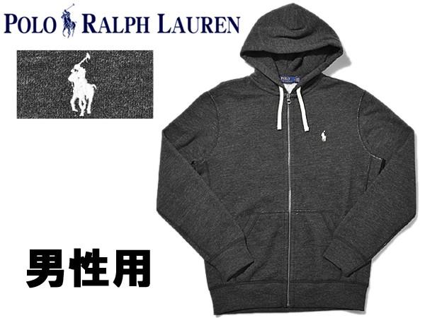 ポロ ラルフローレン ワンポイント パーカー 男性用 POLO RALPH LAUREN 710565296 メンズ ブラックヘザー (01-21230381)