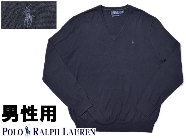 ポロ ラルフローレン ワンポイント Vネックセーター 男性用 POLO RALPH LAUREN 710715992 メンズ カレッジネイビー (01-21230414)