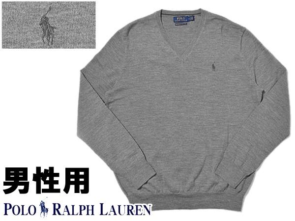 ポロ ラルフローレン ワンポイント Vネックセーター 男性用 POLO RALPH LAUREN 710715992 メンズ ウィンザーヘザー (01-21230416)