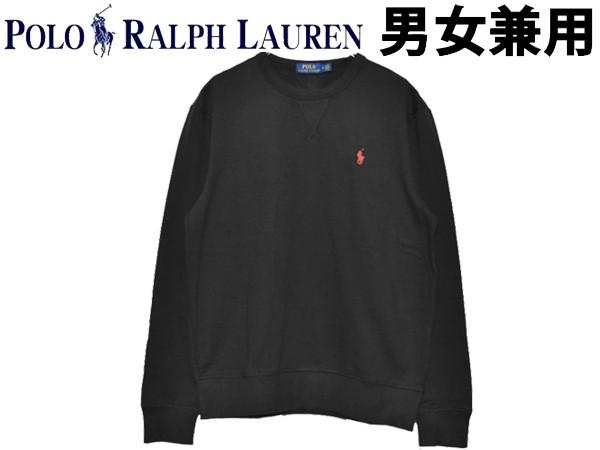 ポロ ラルフローレン ワンポイント長袖スウェット 男性用兼女性用 POLO RALPH LAUREN 710766772 メンズ レディース カジュアル シャツ ブラック (01-21230480)
