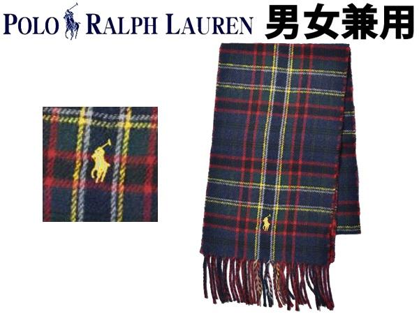 ポロ ラルフローレン ワンポイント リバーシブル マフラー 男性用兼女性用 POLO RALPH LAUREN PC0440 メンズ レディース ストール ネイビータータン (01-21230493)