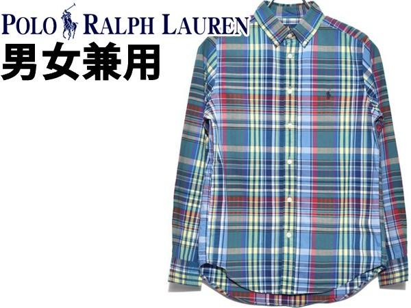 ポロ ラルフローレン ワンポイント チェックシャツ 海外BOYSモデル 男性用兼女性用 POLO RALPH LAUREN 323750000 メンズ レディース 長袖シャツ (21230876)
