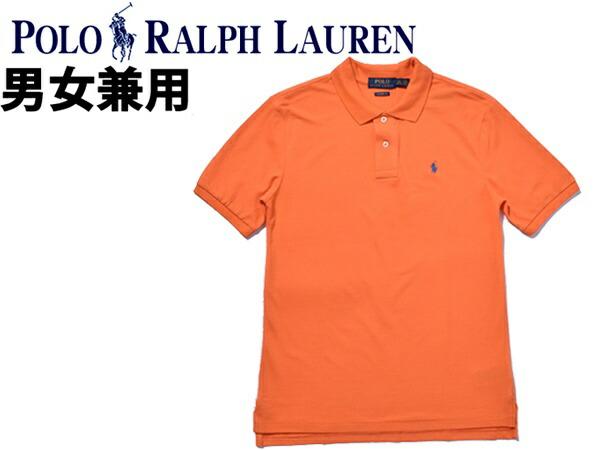 ポロ ラルフローレン ワンポイント ポロシャツ 海外BOYSモデル 男性用兼女性用 POLO RALPH LAUREN メンズ レディース 半袖ポロシャツ オレンジ (01-21234446):Styl-us(スタイラス)