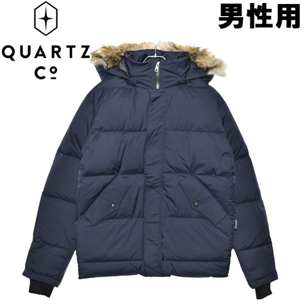 クオーツ コー フォークナー 男性用 QUARTZ Co. FALKNER 39720 メンズ ダウンジャケット ネイビー (01-21730006)