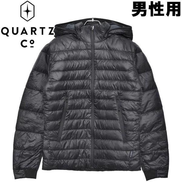 クオーツ コー LANS 男性用 QUARTZ Co. 37610 メンズ ライトダウンジャケット ブラック (01-21730020)