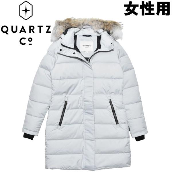 クオーツ コー アリス 女性用 QUARTZ Co. ARIS 28721 レディース ダウンジャケット ライトグレー (01-21735002)