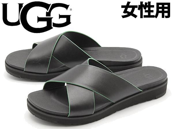 アグ ケリ 女性用 UGG KARI 1015786 レディース サンダル ブラック(01-12627035)