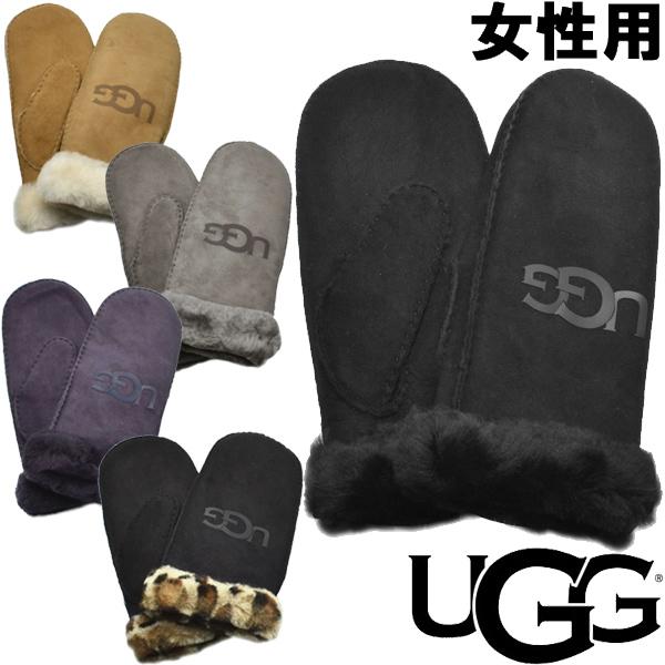 UGG アグ シープスキン ロゴ ミトン 女性用 UGG W SHEEPSKIN LOGO MITTEN 18690 レディース 手袋 (2264-0074)