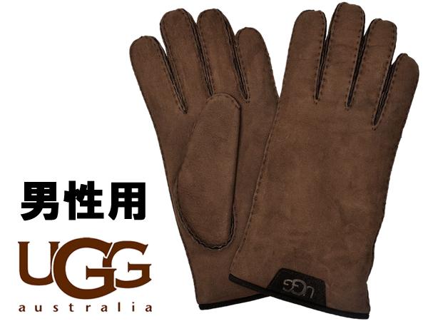 UGG アグ シープスキン グローブ W 男性用 17392 メンズ 手袋 チョコレート (01-22640242)