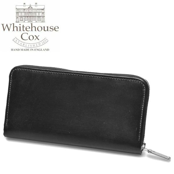 ホワイトハウスコックス ラージ ジップ ラウンド パース 男性用兼女性用 WHITEHOUSE COX LARGE ZIP ROUND PURSE S2722 メンズ レディース 財布 ブラック (01-60490001)