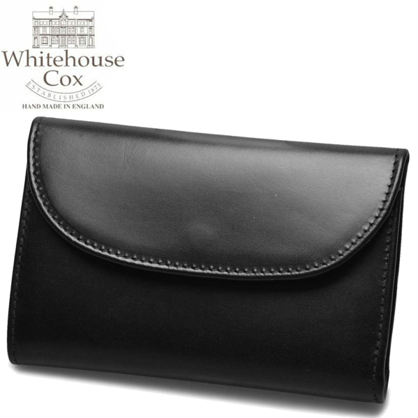 ホワイトハウスコックス スモール クラッチ パース 男性用兼女性用 WHITEHOUSE COX SMALL CLUTCH PURSE S1112 メンズ レディース 財布 ブラック (01-60490006)
