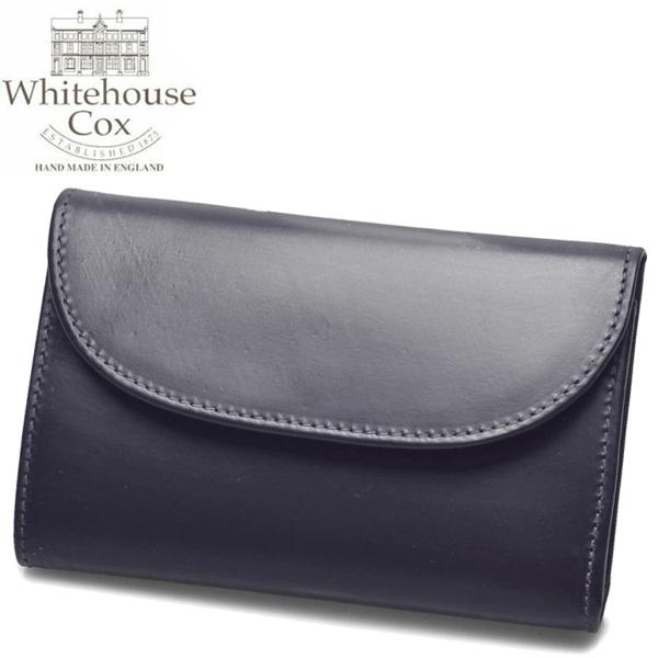 ホワイトハウスコックス スモール クラッチ パース 男性用兼女性用 WHITEHOUSE COX SMALL CLUTCH PURSE S1112 メンズ レディース 財布 ネイビーxレッド (01-60490007)