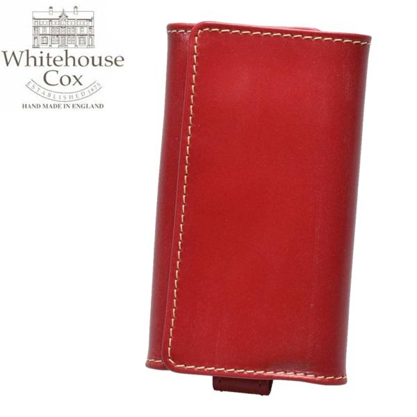 ホワイトハウスコックス ウエスト エンド キーケース 男性用兼女性用 WHITEHOUSE COX WEST END KRYCASE S9692 メンズ レディース キーホルダー レッド (01-60490017)
