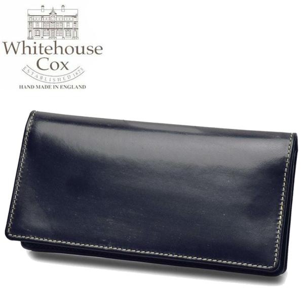ホワイトハウスコックス ミディアム クラッチ パース 男性用兼女性用 WHITEHOUSE COX MEDIUM CLUCH PURSE S8819 メンズ レディース 財布 ネイビー (01-60490035)