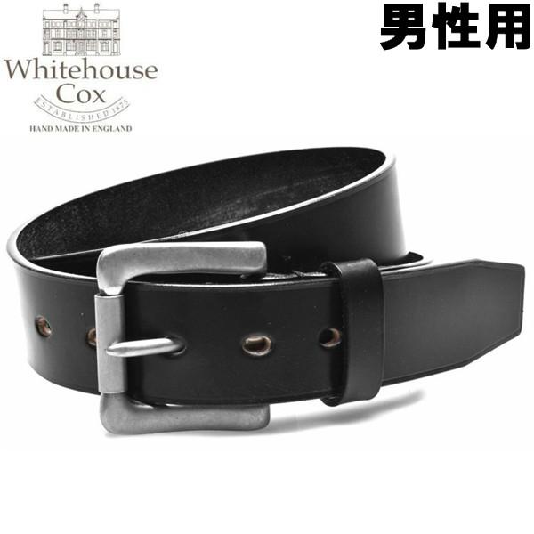 ホワイトハウスコックス イングリッシュ ブライドル レザー ベルト 男性用 WHITEHOUSE COX ENGLISH BRIDLE LEATHER BELT B1090 メンズ レディース ベルト ブラック (01-60490055)
