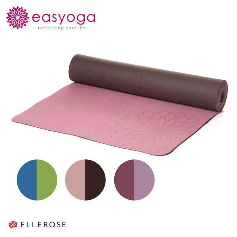 easyoga イージーヨガ エコダブルフェイスヨガ 垫 5-5.5 毫米轻型加特キ 小腿,| | 瑜伽垫-普拉提-可逆-垫-反应-