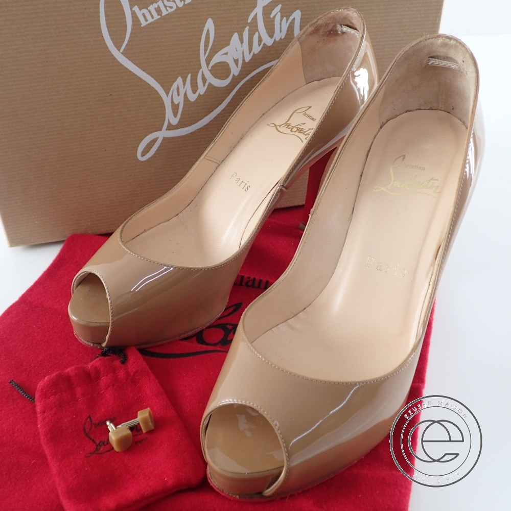 huge selection of 07dbc 0b316 Christian Louboutin VERY PRIVE 100 PATENT CALF beige patent pumps 36 pumps  Lady's