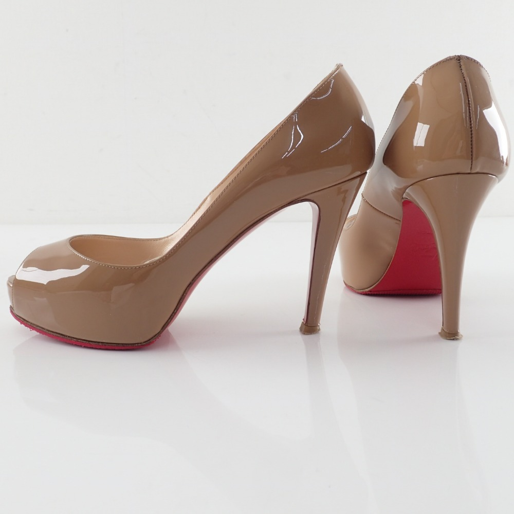huge selection of 2de1d 758ef Christian Louboutin VERY PRIVE 100 PATENT CALF beige patent pumps 36 pumps  Lady's