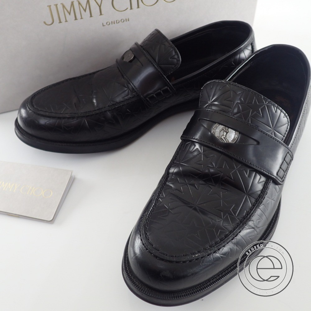 Jimmy Choo【ジミーチュウ】DARBLAY ダーブレー スターエンボスコインローファー 40 1/2 メンズ【中古】