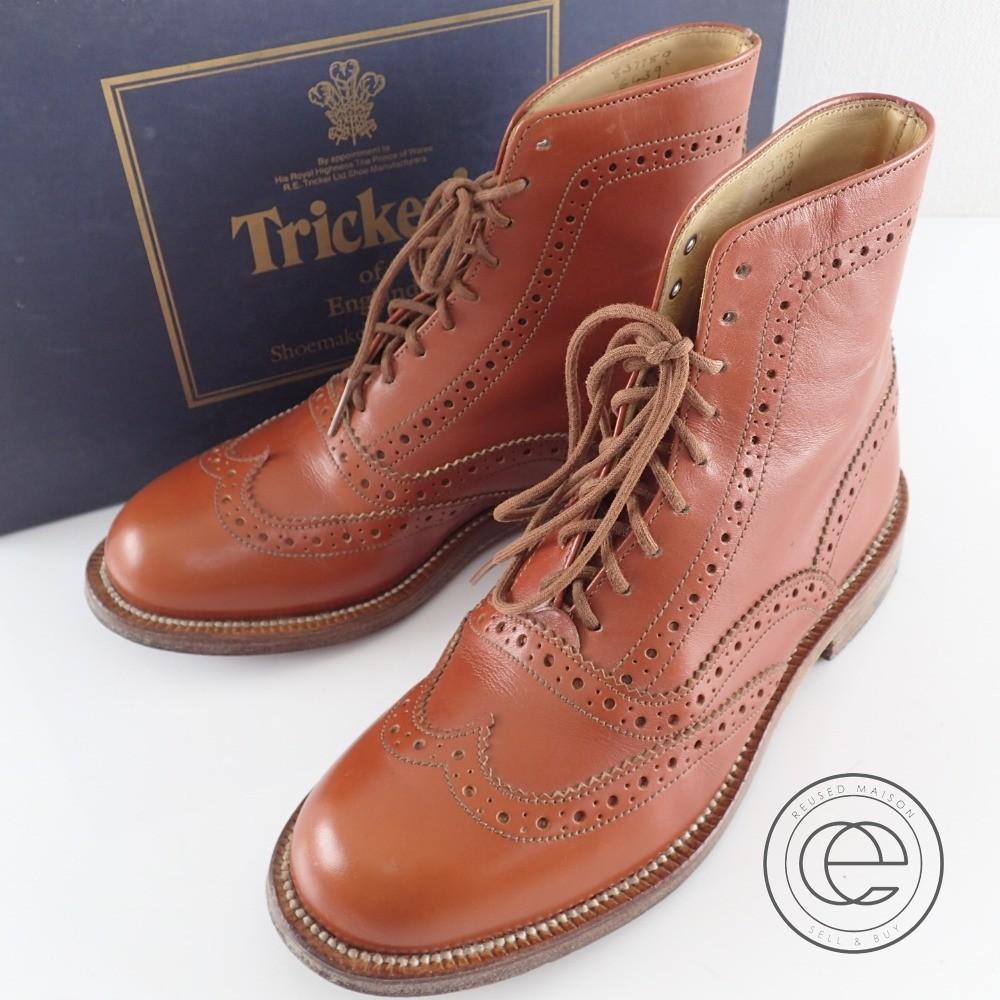 Tricker's【トリッカーズ】 6439 レースアップカントリーブーツ 4 1/2 FIT:4 レザー レディース 【中古】