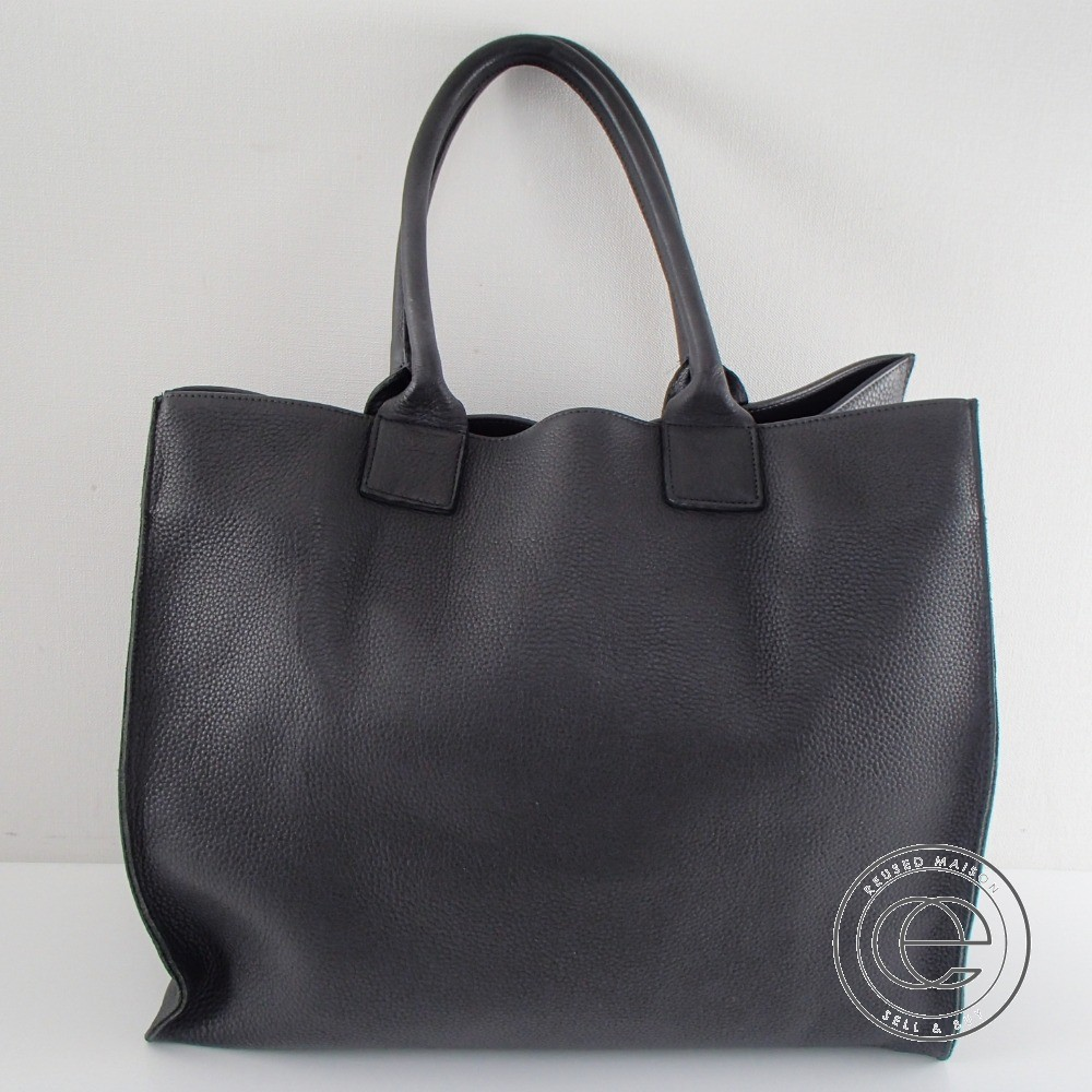 GREI【グレイ】RAW EDGE LEATHER RELAXED TOTE IN BLACK レザートートバッグ メンズ【中古】