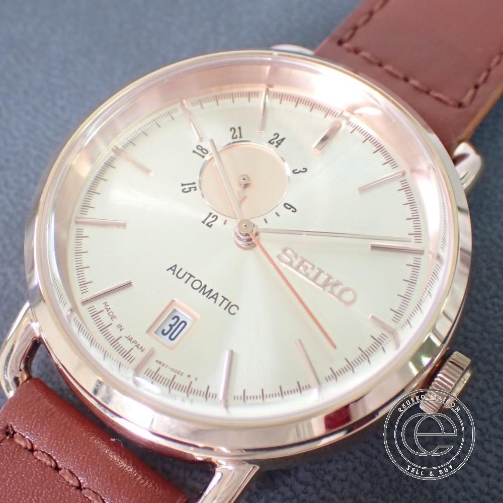 【SEIKOセイコー】SCVE012 SPIRIT SMART mechanicalスピリットスマートメカニカル ピンクゴールド×ブラウン 自動巻 腕時計【中古】