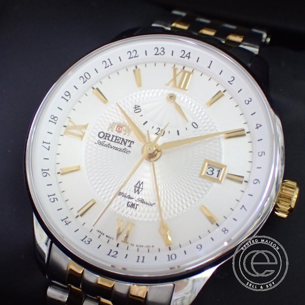 ORIENT【オリエント】 FDJ02001W0 CLASSIC GMT SAPPHIRE CRYSTAL 自動巻き 腕時計 ステンレススティール メンズ 【中古】