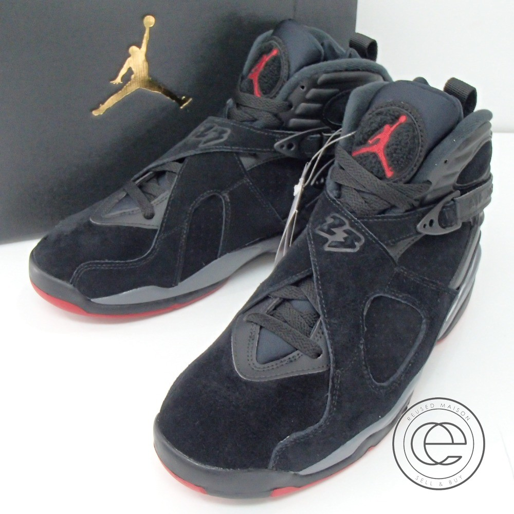 online store ba7b2 c9362 NIKE305381-022 AIR JORDAN 8 RETRO Air Jordan 8 nostalgic sneakers / shoes  26.5 BLACK/GYM RED-BLACK-WOLF GREY men