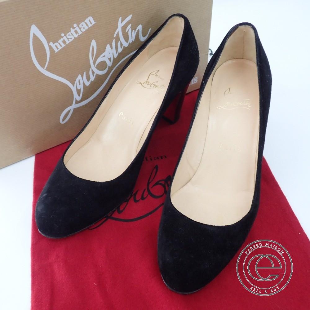 info for 9ec9c 17840 Christian Louboutin MISS TACK 70 VEAU VELOURS/CUOIO black suede pumps 37  shoes Lady's