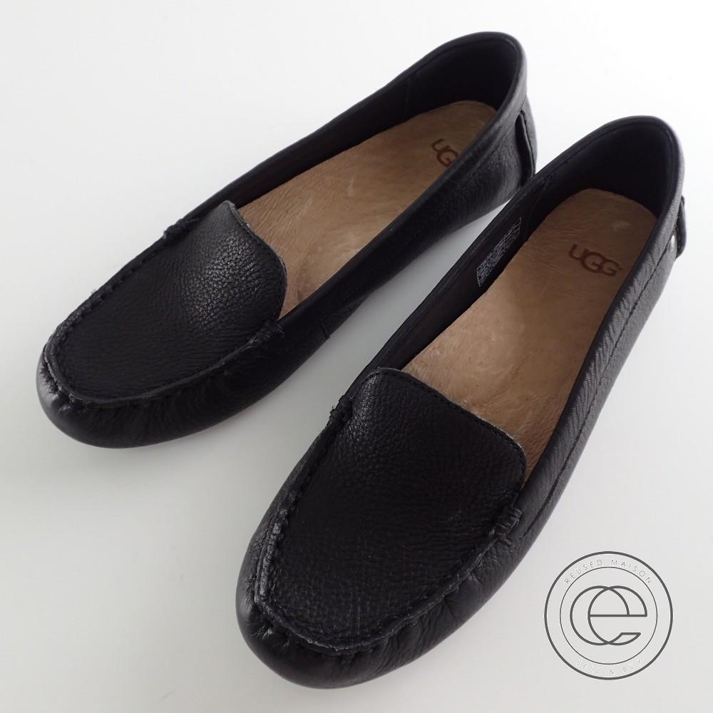 UGG【アグ】 1016767 Milana ミラーナ レザー ドライビングモカシン シューズ 靴 黒 レディース 23.5 【中古】