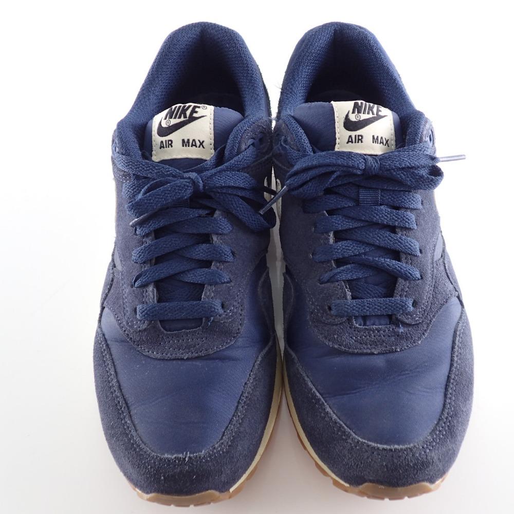NIKE 537,383 411 AIR MAX 1 ESSENTIAL suede sneakers 26.5 MIDNIGHT NAVYSAIL BLACK men