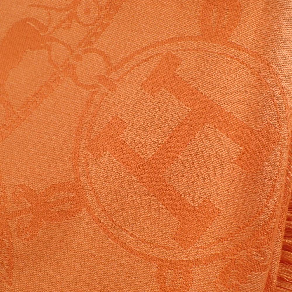 HERMES エルメスエルメス銀座店購入商品 カシミヤ シルク Hロゴ New Libris ニューリブリス 大判ストールHE2IWD9
