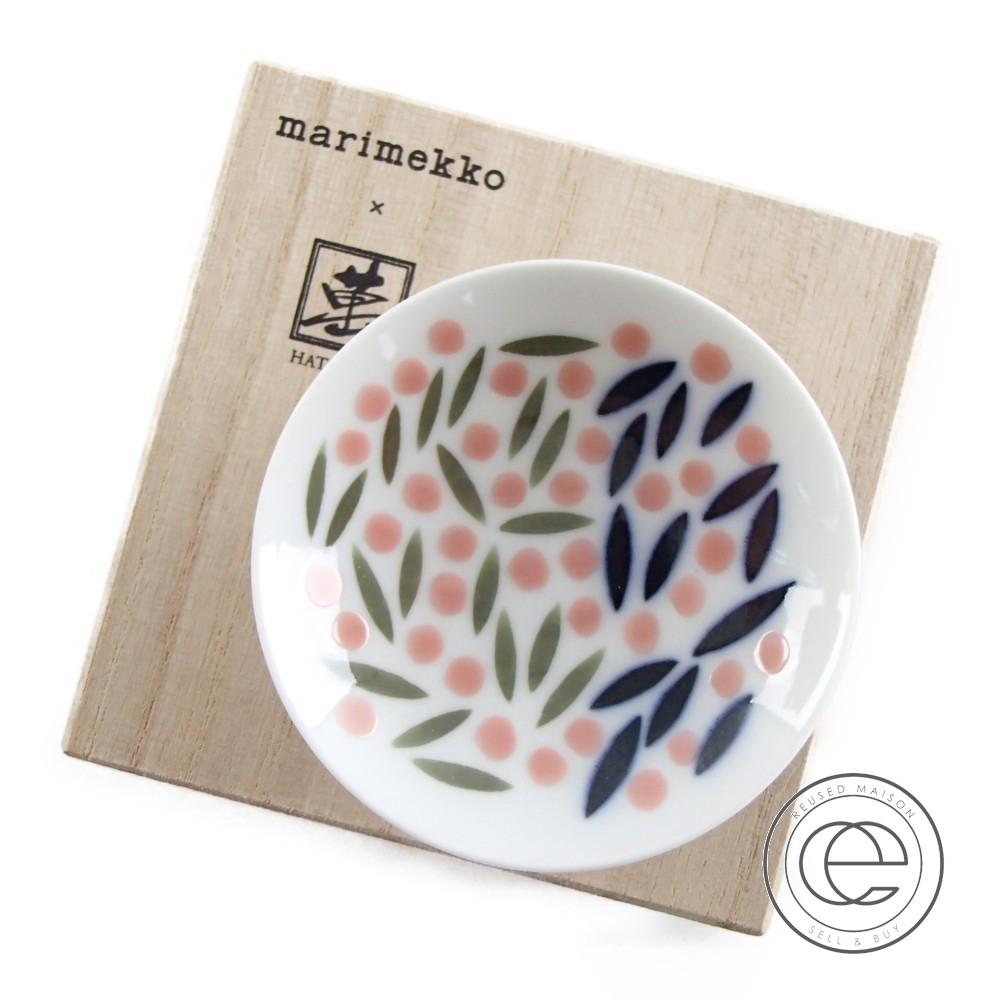 Marimekko マリメッコ 畑萬陶苑コラボ 【新品同様■】新宿伊勢丹限定 Sake cup 小 食器 VASKYNA 【中古】