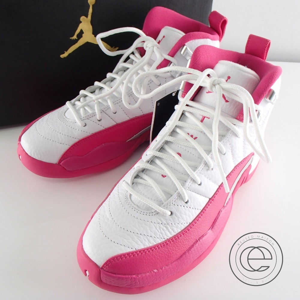 size 40 dac82 1b18d NIKE Nike 510,815-109 AIR JORDAN 12 RETRO GG Air Jordan 12 nostalgic GG  basket / sneakers shoes 22.5 WHITE/VIVID PINK-METALLIC SIVER Lady's
