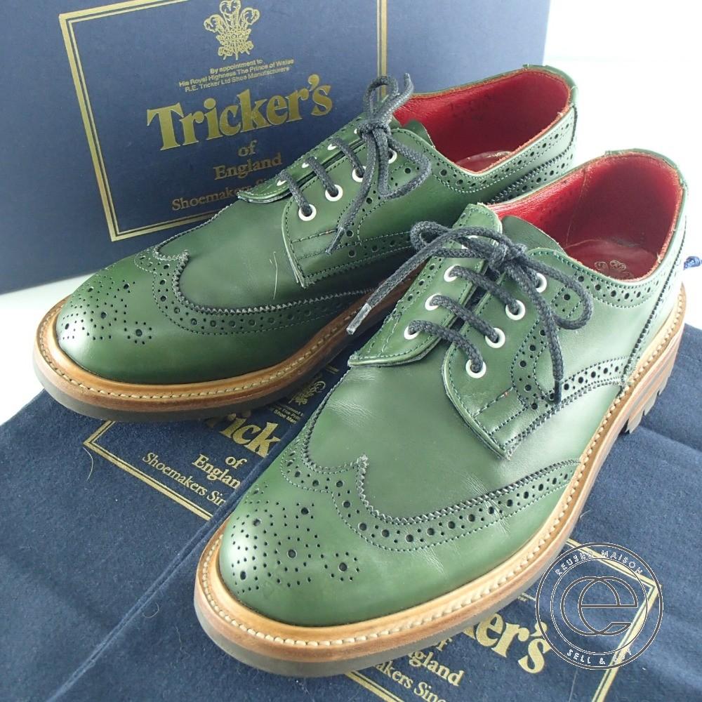 Tricker's トリッカーズ JUNYA WATANABE MAN ジュンヤワタナベマン別注 L5679 ウイングチップダービー シューズ 7 FIT:4 カーキ メンズ 【中古】