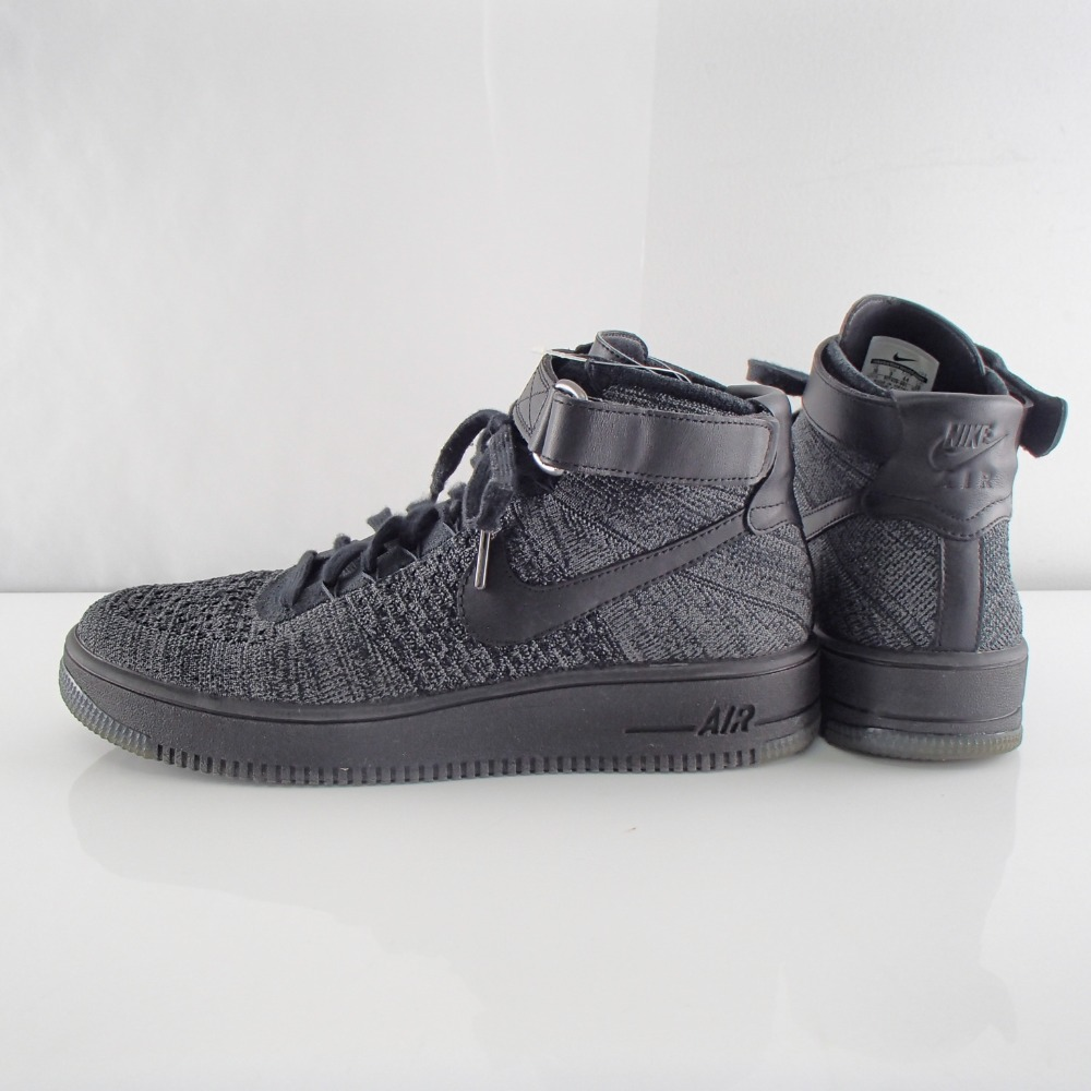 NIKE Nike 817,420 001 AF1 ULTRA FLYKNIT MID middle cut sneakers shoes 28 DARK GREYBLACK men