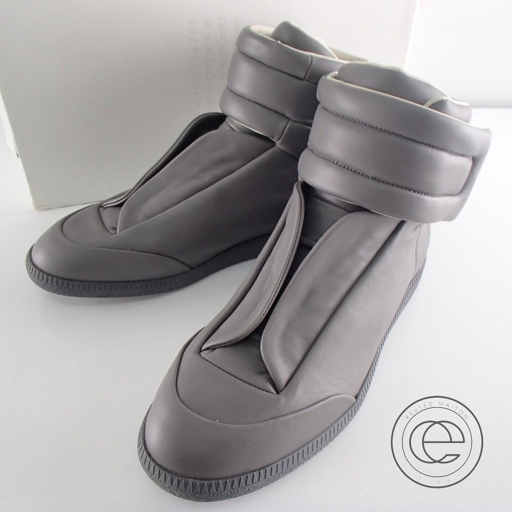 Maison Margiela メゾンマルタンマルジェラ 22 15AW S37WS0245 Future High Top Sneaker フューチャー ハイトップスニーカー シューズ 40 1/2 グレー メンズ 【中古】