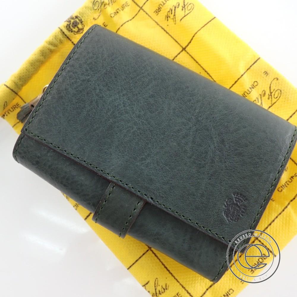 47d9c2e81513 Felisiフェリージ 3500 ジャバラショートウォレット コロコロ 二つ折り財布(小銭入れあり) グリーン