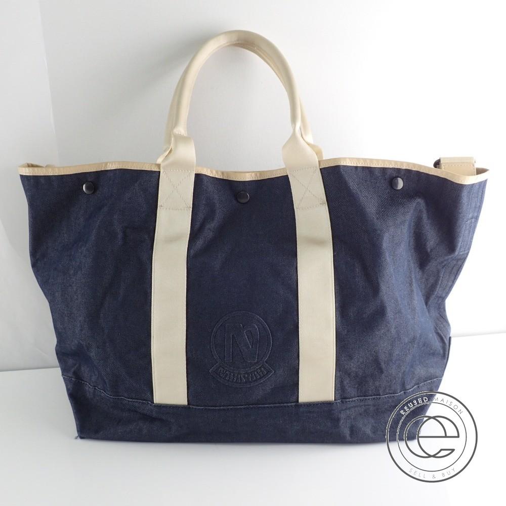narifuri ナリフリ NF737 Dry denim tote bag ドライデニム 2WAYショルダートートバッグ ネイビー メンズ【中古】