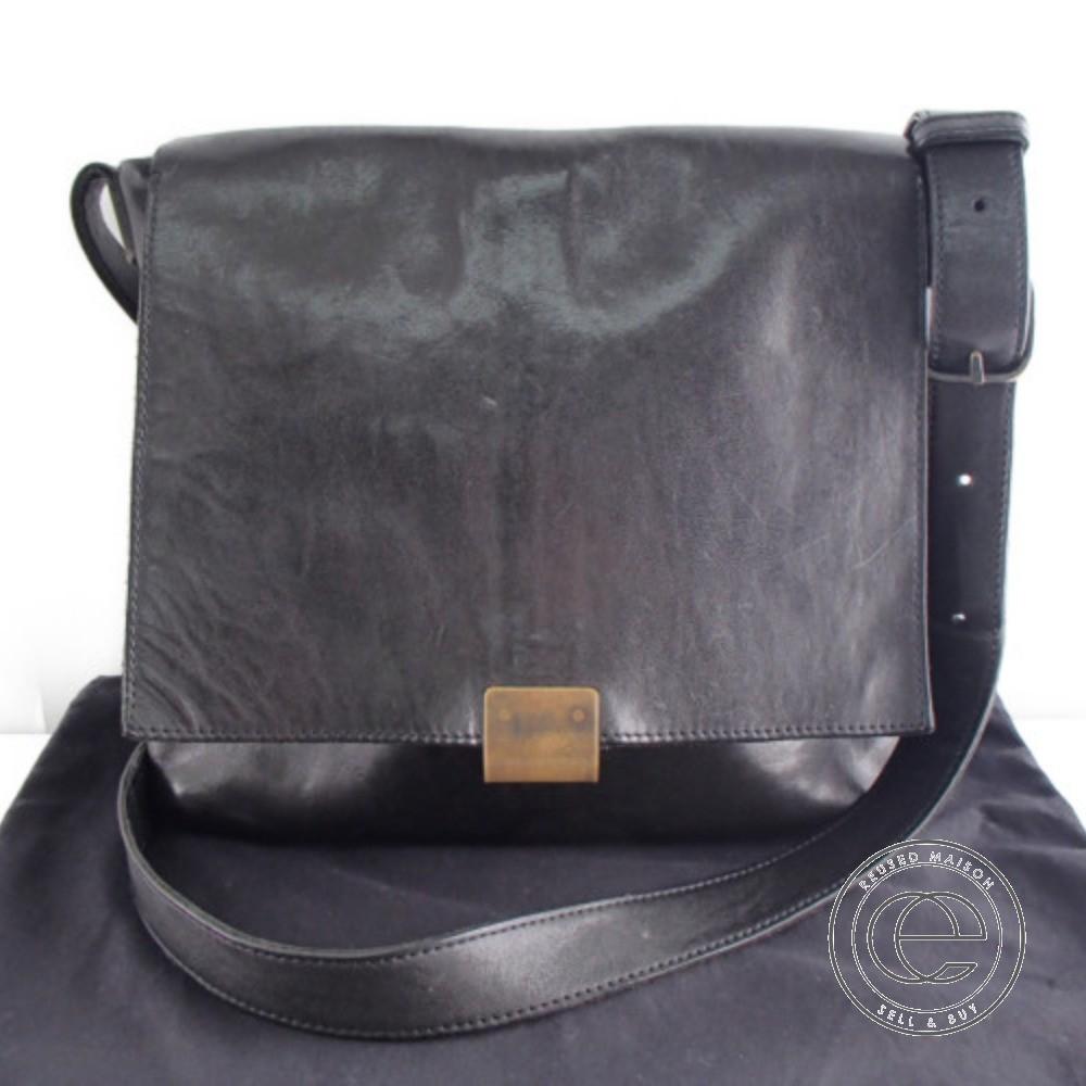 iolom イオロム io-08 Japanese Horse Leather Shoulder Bag ホースレザーショルダーバッグ ブラック メンズ【中古】