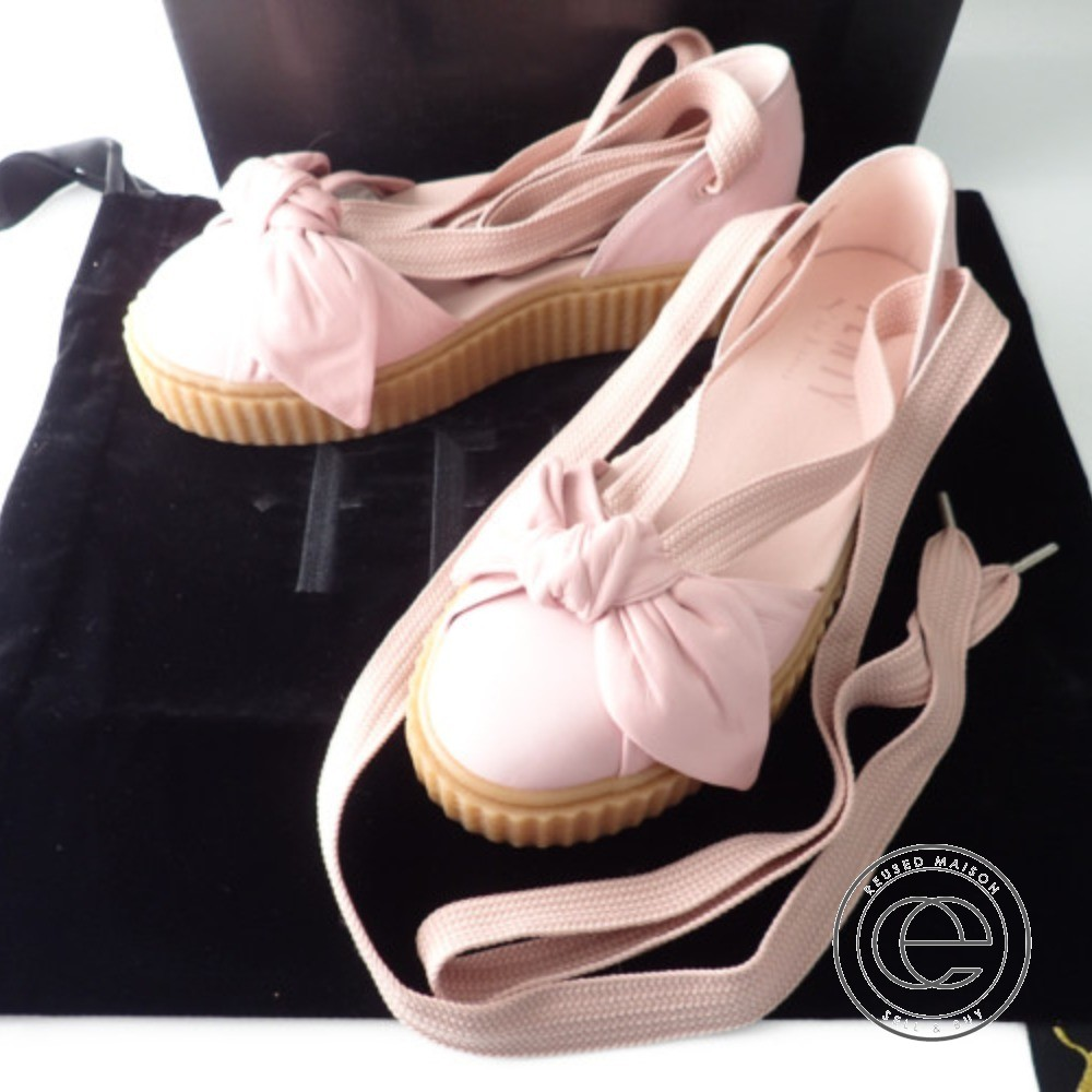 wholesale dealer 17581 d4183 Fenty PUMA by Rihanna フェンティプーマバイリアーナ 365,794-01 bow creeper sandal ribbon  sandals 24.5 Silver Pink-Pink-Oatmeal Lady's