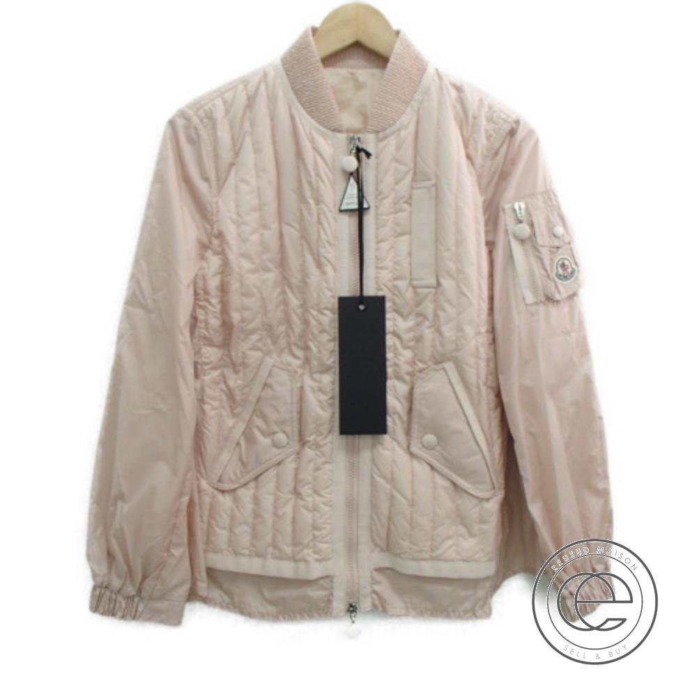 Moncler Rail Quilting Monk Kim Pink Lady 2 Gathers Blouson Jacket Down 1TKuc3lFJ