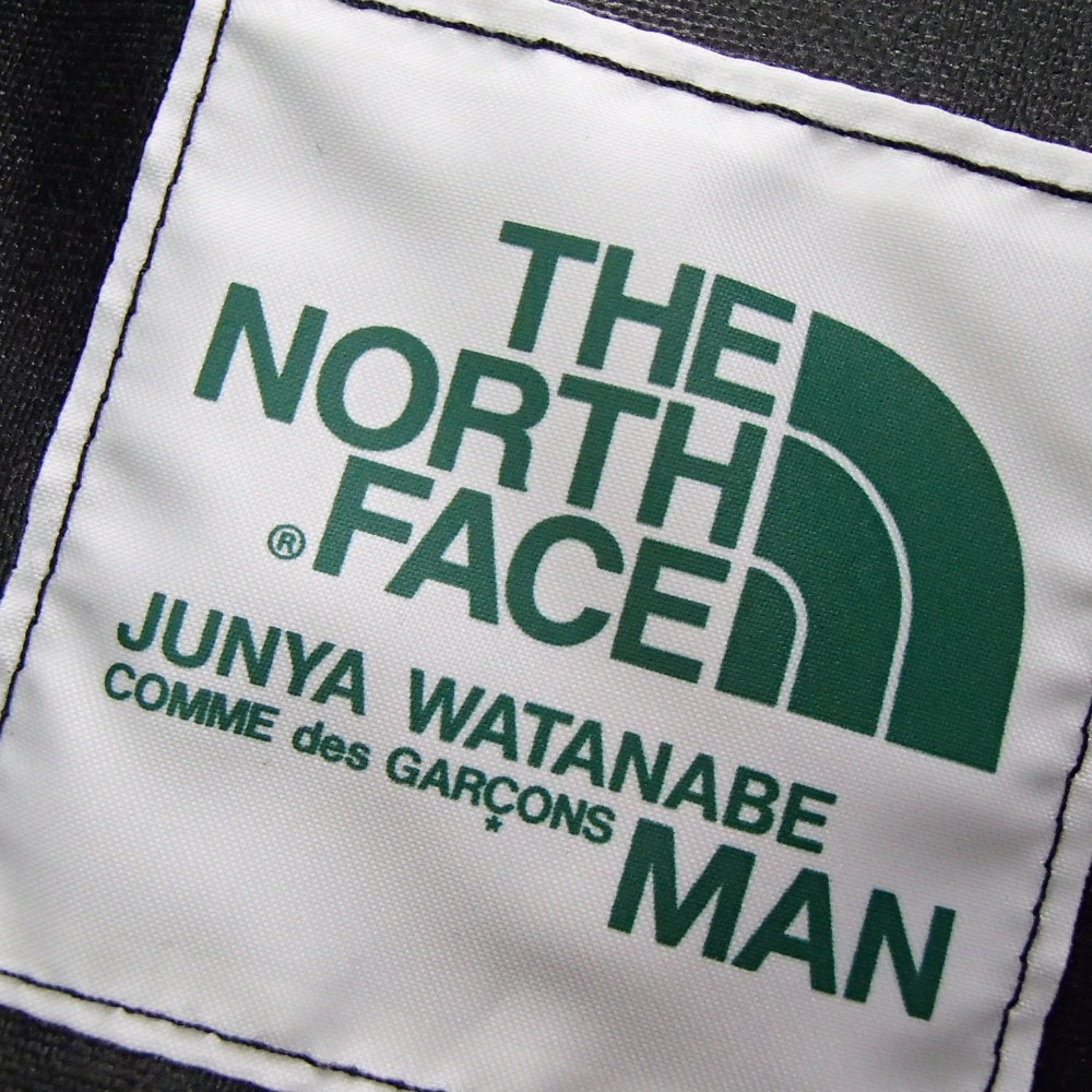 THE NORTH FACE ノースフェイス×JUNYA WATANABE MAN WA K 202 ナイロン×レザー バックパック ブラック メンズDYH29EIbWe