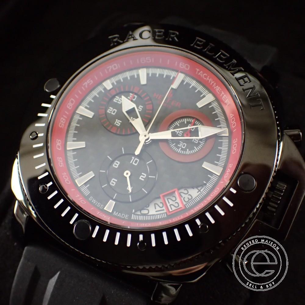 HELFER ヘルファー 【未使用◇】BORN 2 RACE Timemaster BLACK/RED クロノグラフ クオーツ腕時計 メンズ 【中古】